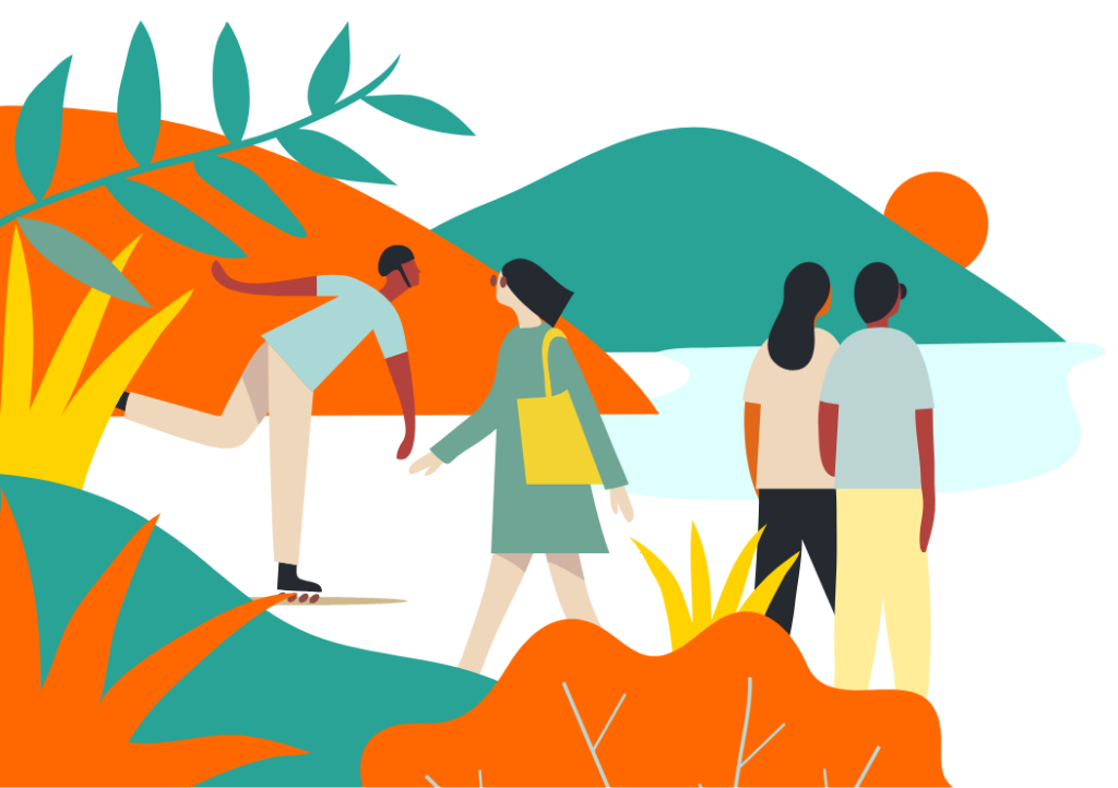 Reading campus illustration