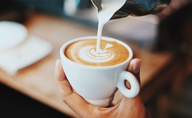 photograph of cappuccino