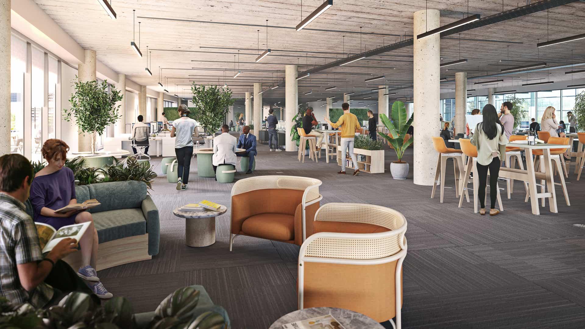 Reading International Campus interior CGI