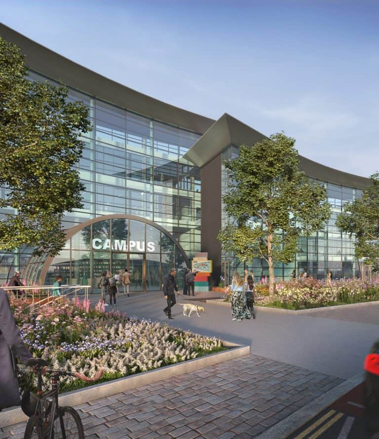 CGI of entrance to Campus Reading