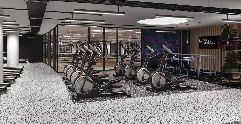 CGI of gym at Campus Reading