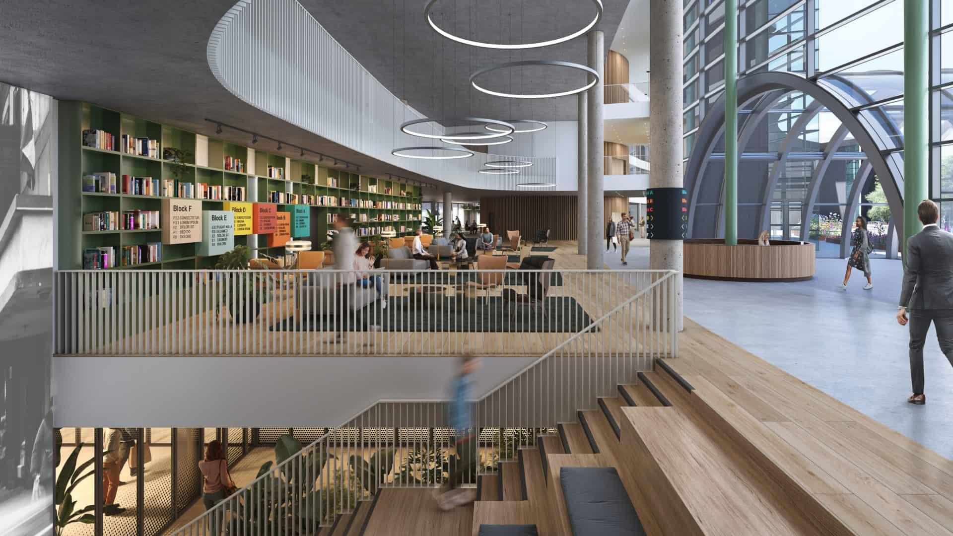 Reading International Campus interior