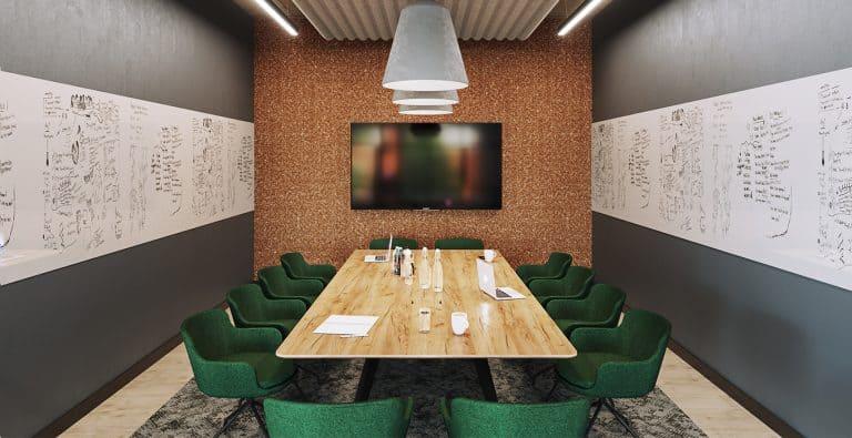 CGI of meeting room at Campus Reading