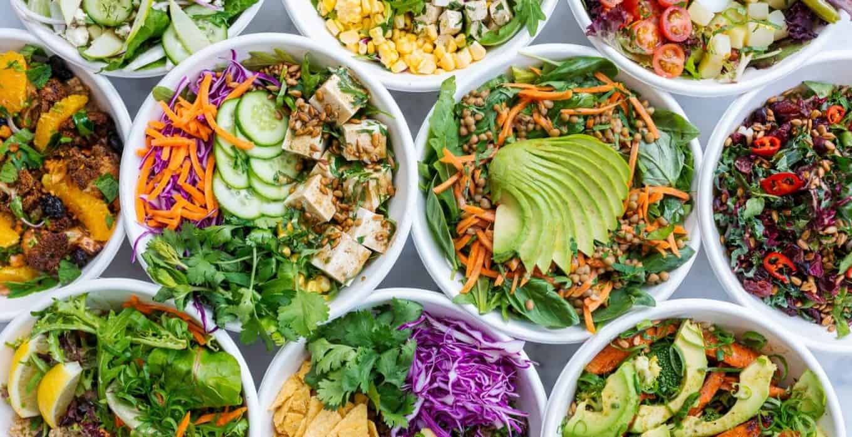 Photograph of salad bowls