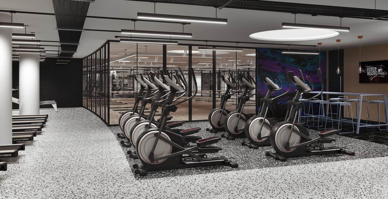 Photograph of gym space at Campus Reading